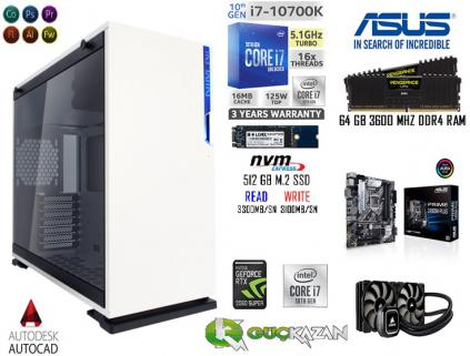 64 GB RAM 512 GB M.2 SSD 2 TB HDD RTX 2060S 8 GB 256 BİT OYUN PC