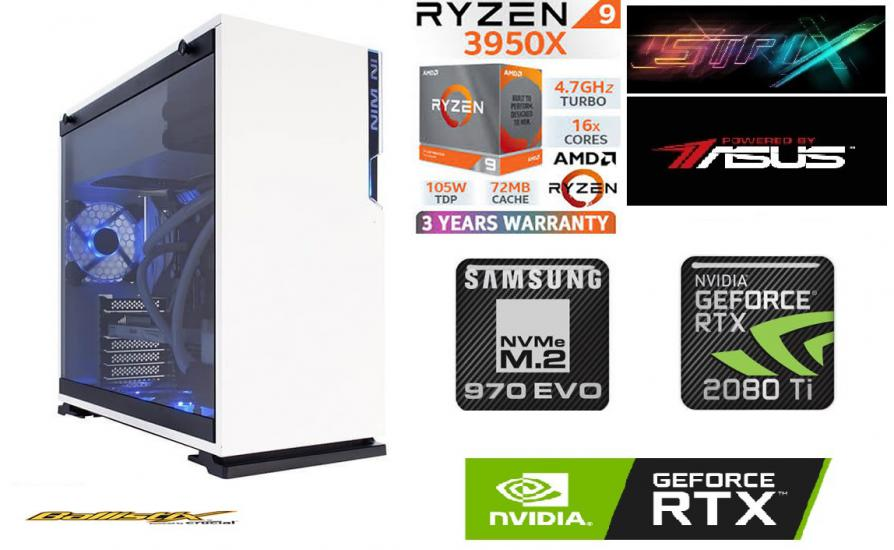 64 GB RAM 1 TB SSD NVME SSD RTX 2080 Tİ GAMİNG PC