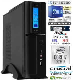 16 GB RAM 512 GB NVME M.2 SATA SSD 2 TB HDD SLİM PC