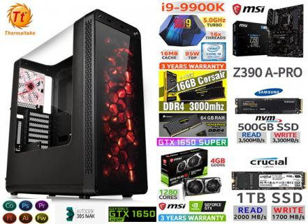 64 GB DDR4 RAM M.2 SATA SSD MSİ 4 GB GTX 1650S GAMİNG RENDER PC