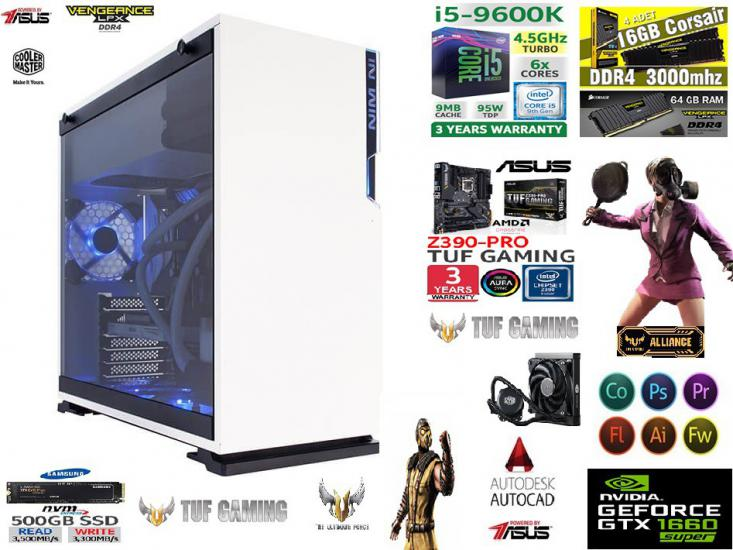64 GB 500 GB 970 EVO PLUS GTX 1660S 6 GB 192 BİT OYUN PC